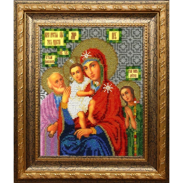 Набор для вышивания бисером ВЫШИВАЕМ БИСЕРОМ арт.L150 Божья Матерь Трех радостей 19х23см