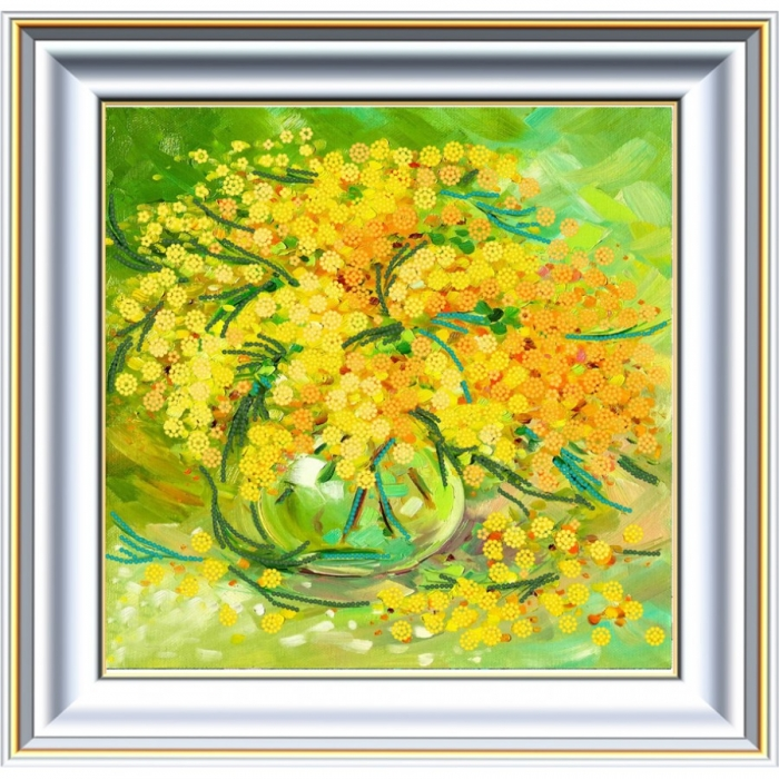Рисунок на ткани (Бисер) КОНЁК арт. 8454 Мимоза 25х25 см