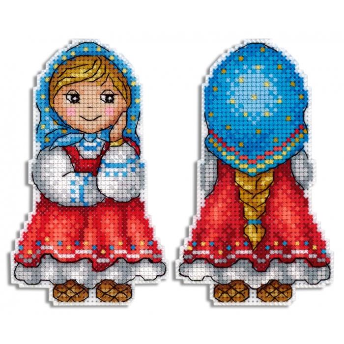 Набор для вышивания ЖАР-ПТИЦА арт.Р-469 Внучка Машенька 11х7 см
