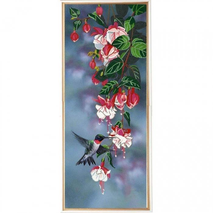 Рисунок на ткани (Бисер) КОНЁК арт. 8495 Фуксия 25х65 см