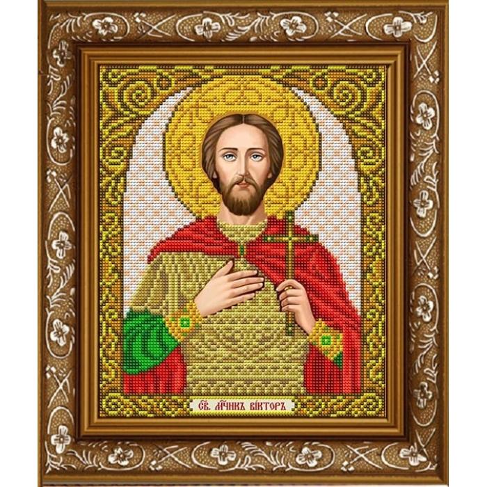 Рисунок на габардине СЛАВЯНОЧКА арт. ИС-4067 Святой Виктор 20х25 см