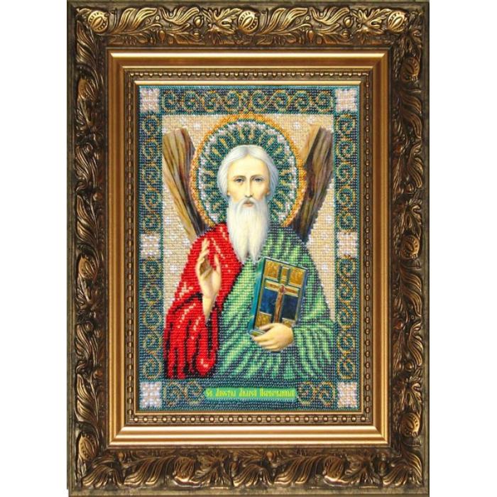 Набор для вышивания бисером ПАУТИНКА арт.Б-1006 Св.Апостол Андрей Первозв. 20х26 см