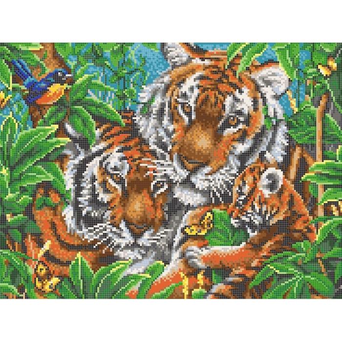 Рисунок на канве КОНЁК арт. 7810 Тигры 29х39 см