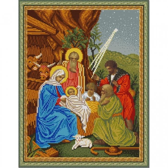 Рисунок на ткани (Бисер) КОНЁК арт. 9851 Рождество Христово 29х39 см