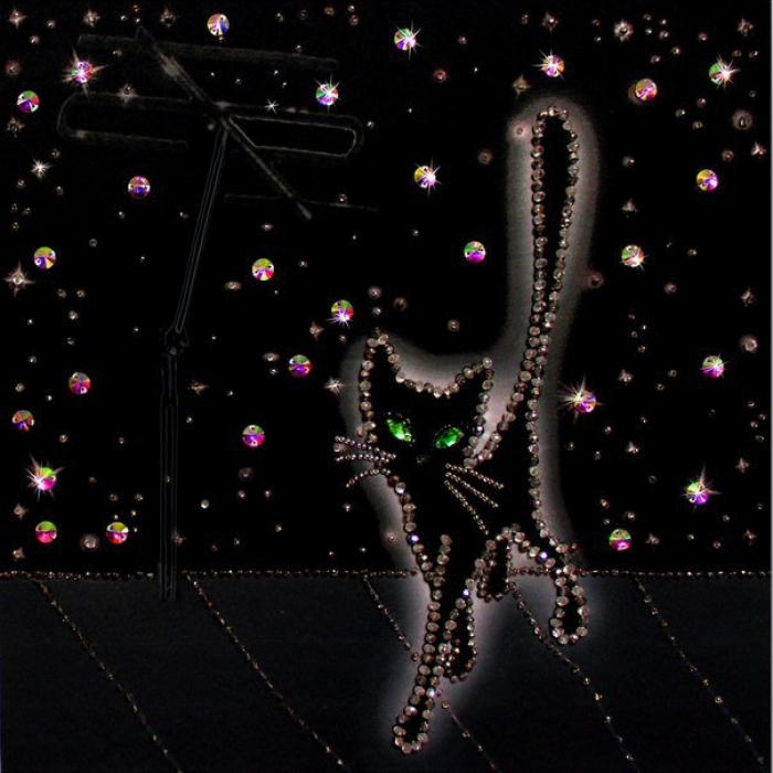 Набор для вышивания хрустальными бусинами ОБРАЗА В КАМЕНЬЯХ арт. 5524 Соло на крыше 30х30 см