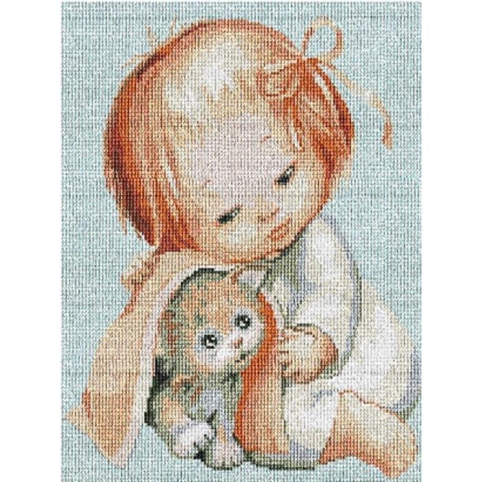 Набор для вышивания мулине НИТЕКС арт.0055 Питомец 20х25 см