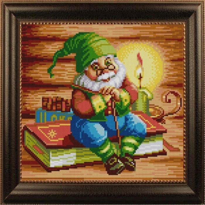 Рисунок на ткани (Бисер) КОНЁК арт. 1338 Сказка на ночь 25х25 см