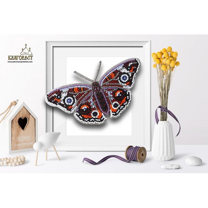 Набор для вышивки бисером 3-D БЛАГОВЕСТ арт.Б-003 Бабочка Прецис Лавиния 14х8,5 см