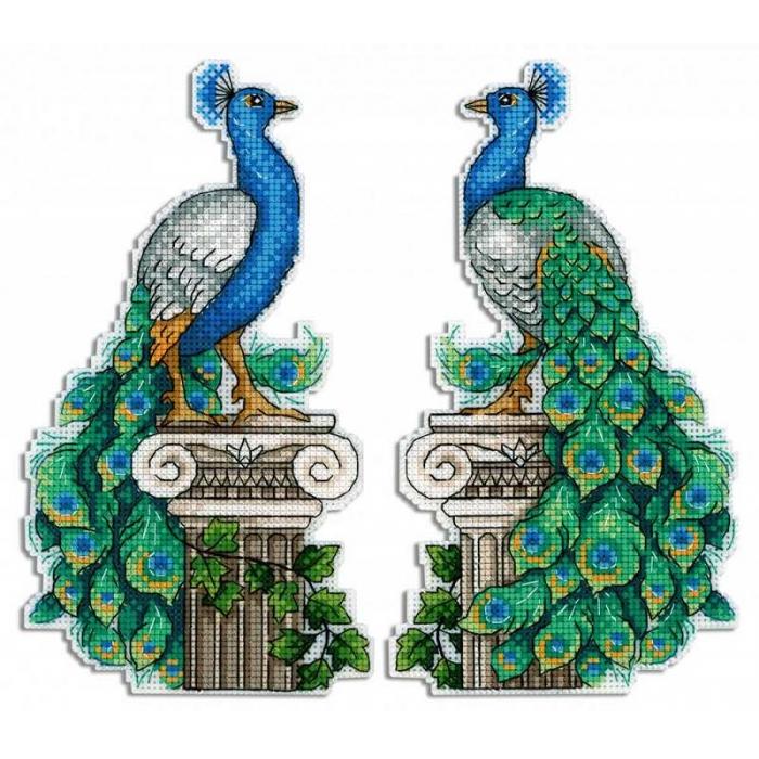 Набор для вышивания ЖАР-ПТИЦА арт.Р-574 Королевский павлин 20х11 см