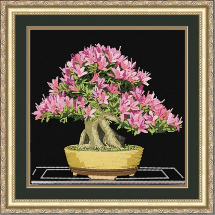 Рисунок на ткани (Бисер) КОНЁК арт. 8444 Бонсай 25х25 см