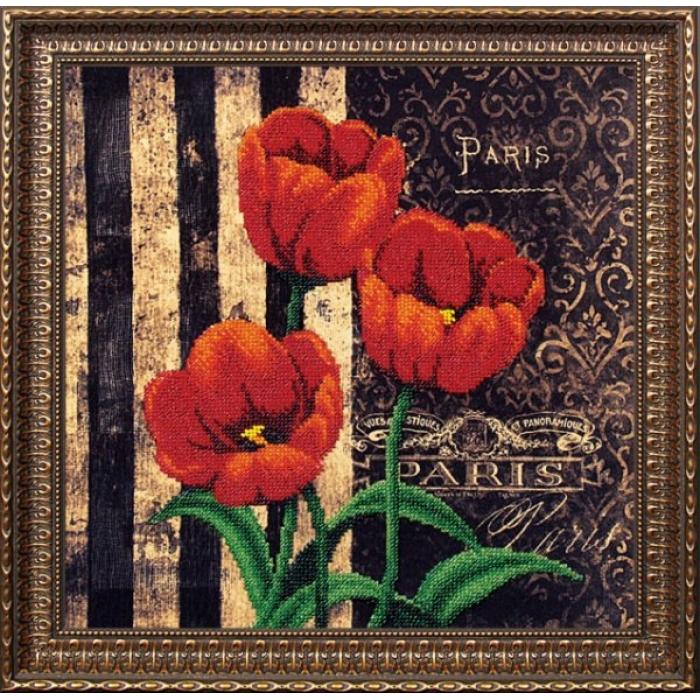 Набор для вышивания бисером МАГИЯ КАНВЫ арт.Б065 Тюльпаны 29х29 см