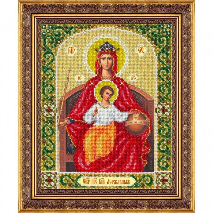 Набор для вышивания бисером ПАУТИНКА арт.Б-1045 Пр.Богородица Державная 20х25 см
