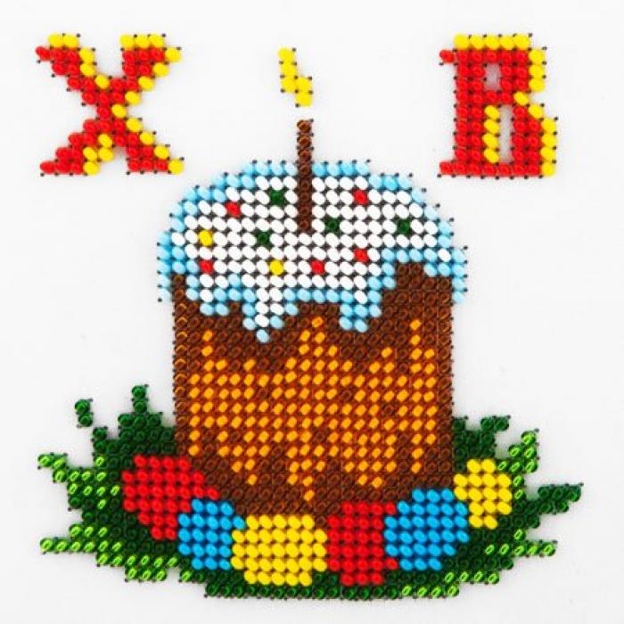 Набор для вышивания бисером LOUISE арт. L402 Пасха 11х11 см