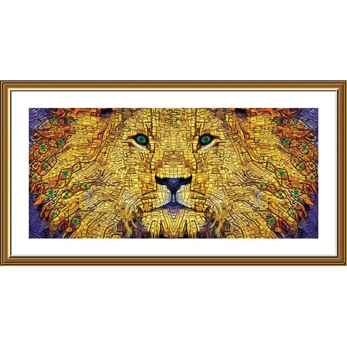 Набор для вышивания бисером НОВА СЛОБОДА арт.ДК1206 Золотой лев 50х23 см