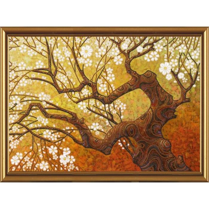 Набор для вышивания бисером НОВА СЛОБОДА арт.ДК1007 Весенний сад 42х30 см