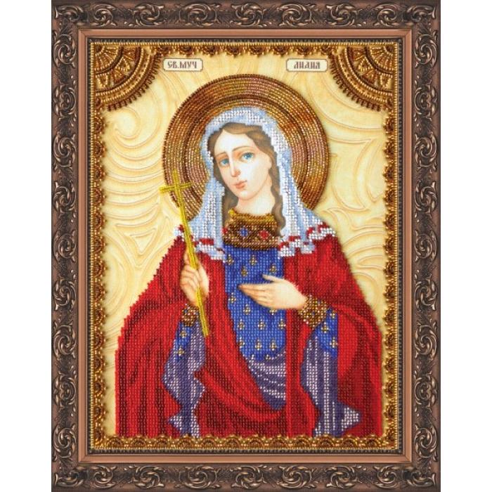 Набор для вышивания бисером АБРИС АРТ арт. AA-060 Св.Лидия 23х30 см