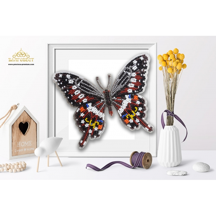 Пластиковая перфорированная основа БЛАГОВЕСТ арт.БС-033 3-D Бабочка. Papilio Lormieri 10х12 см
