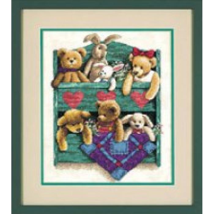 Набор для вышивания DIMENSIONS арт.DMS-13684 Полка с игрушками 28х33 см