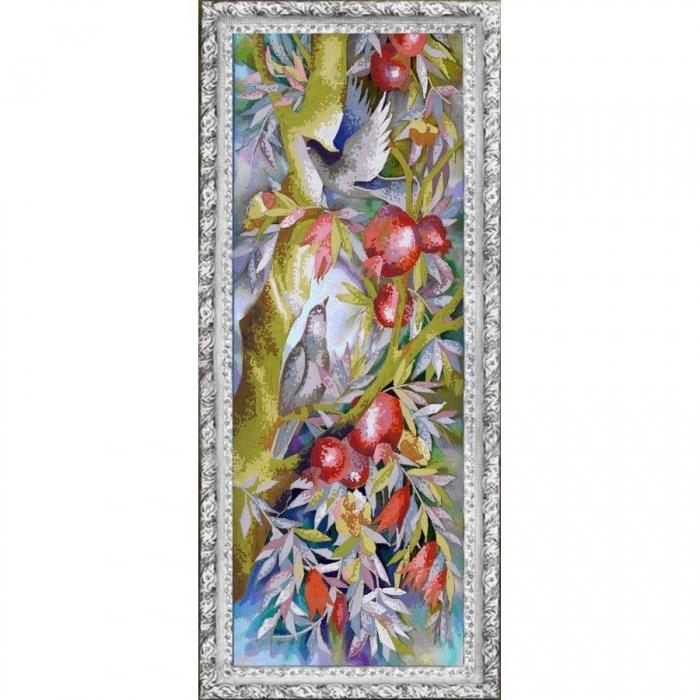 Рисунок на ткани (Бисер) КОНЁК арт. 8448 Гранаты 25х65 см