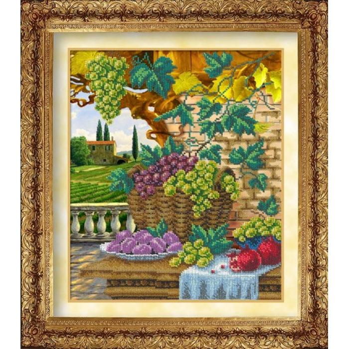 Набор для вышивания бисером РУССКАЯ ИСКУСНИЦА арт.1002 Пора урожая 26х31 см