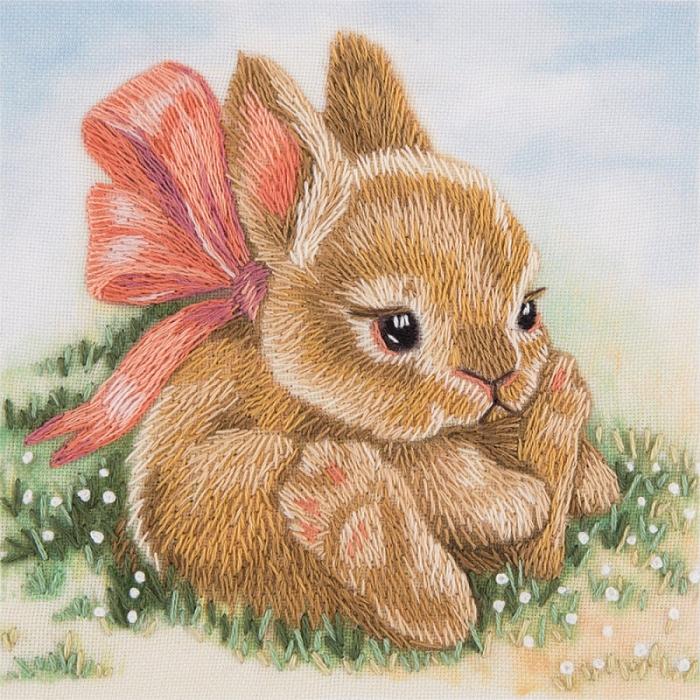 """Набор для вышивания PANNA """"Живая картина"""" арт. JK-2098 Крольчонок 9х9 см"""