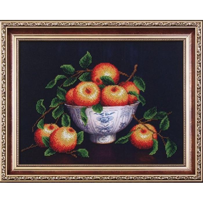 Набор для вышивания бисером МАГИЯ КАНВЫ арт.Б058 Вкус лета Яблоки 34х25,5 см
