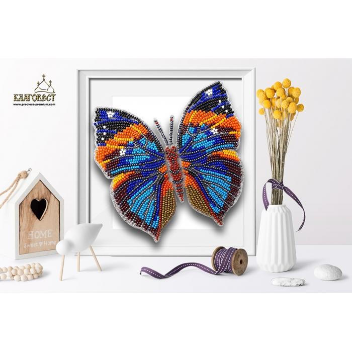 Набор для вышивки бисером 3-D БЛАГОВЕСТ арт.Б-013 Бабочка Каллима 12,5х13 см