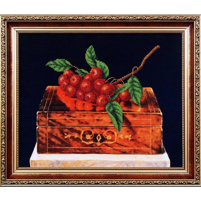 Набор для вышивания бисером МАГИЯ КАНВЫ арт.Б090 Рябина на шкатулке 33,5х27,5 см