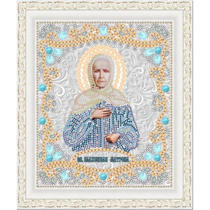 Рисунок на ткани (Бисер) КОНЁК арт. 7119 Св. Матрона 15х18 см