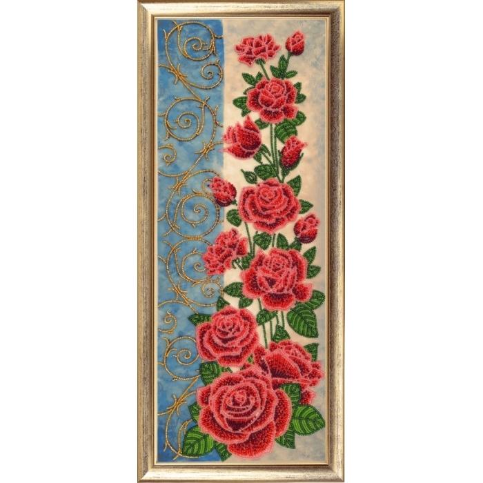 Набор для вышивания BUTTERFLY арт. 157 Панно с розами 49х18 см