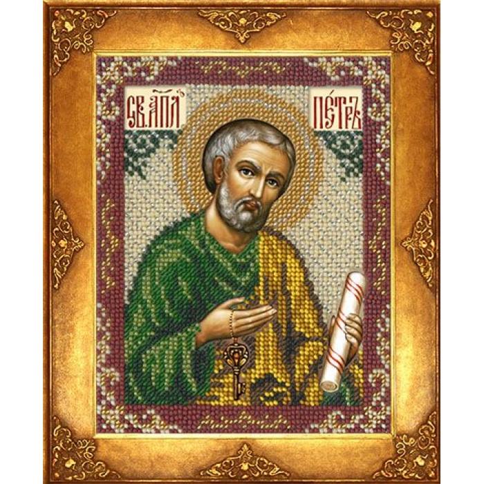Набор для вышивания бисером РУССКАЯ ИСКУСНИЦА арт.233 БИ Св. Петр 12,5х16,3 см