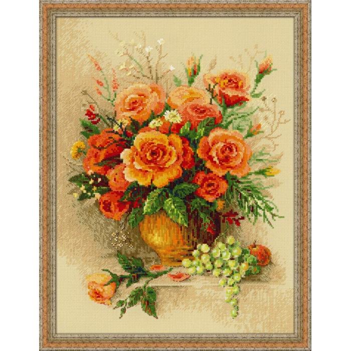 Набор для вышивания РИОЛИС арт.100/049 Чайные розы 30х40 см