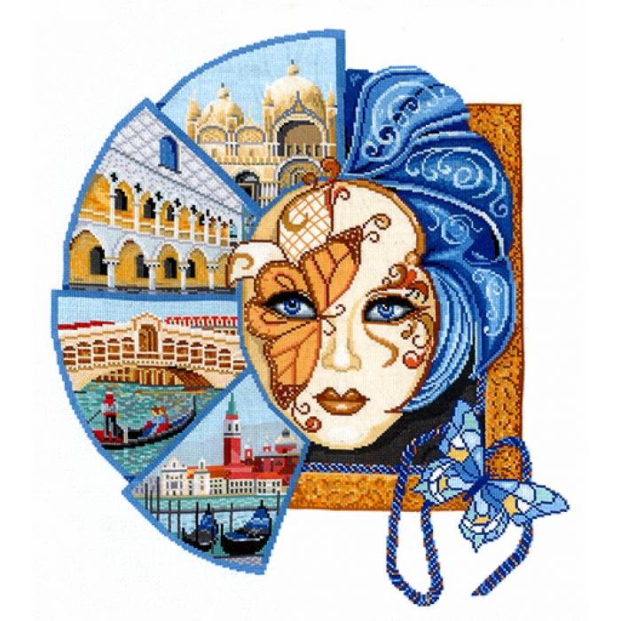 Набор для вышивания СДЕЛАЙ СВОИМИ РУКАМИ арт.В-29 Венецианская маска 42х48 см