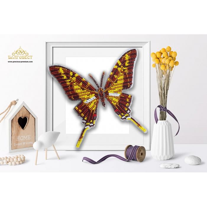 Пластиковая перфорированная основа БЛАГОВЕСТ арт.БС-111 3-D Бабочка. Eurytides thyastes 10х12 см