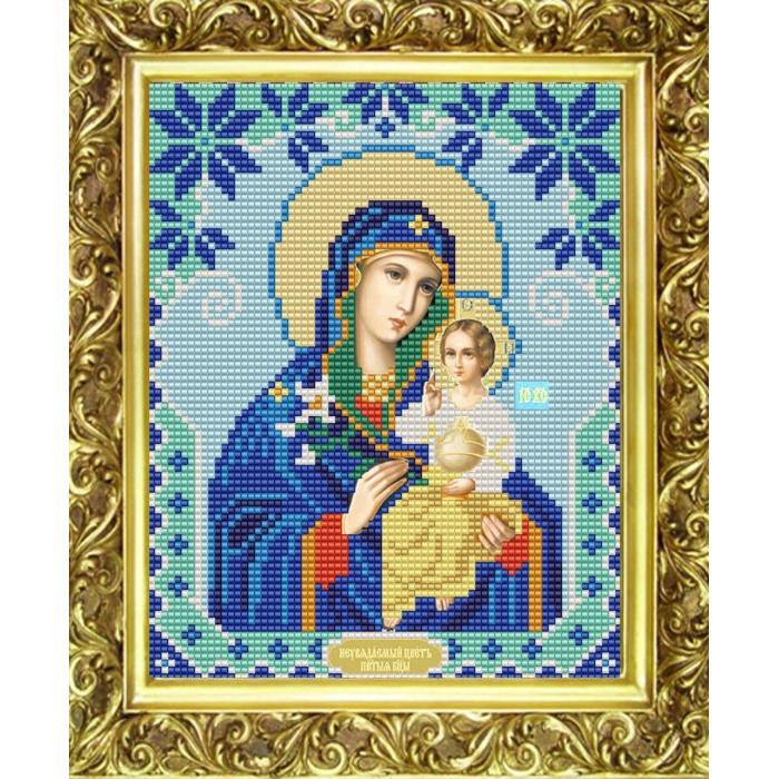 Рисунок на ткани (Бисер) КОНЁК арт. 9117 Богородица Неувядаемый цвет 15х18 см