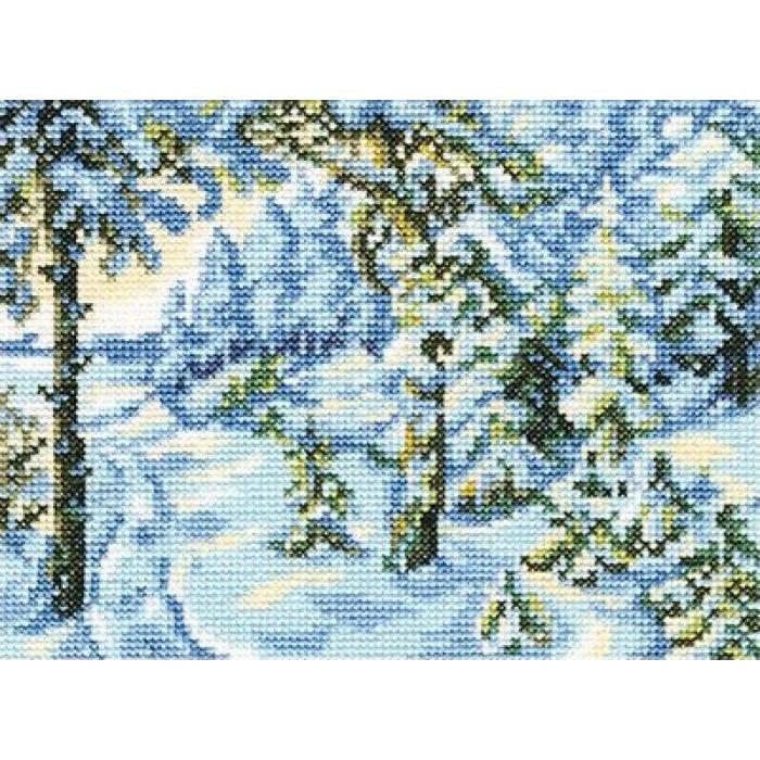 Набор для вышивания РТО арт.C210 Зимний сон 18х14 см