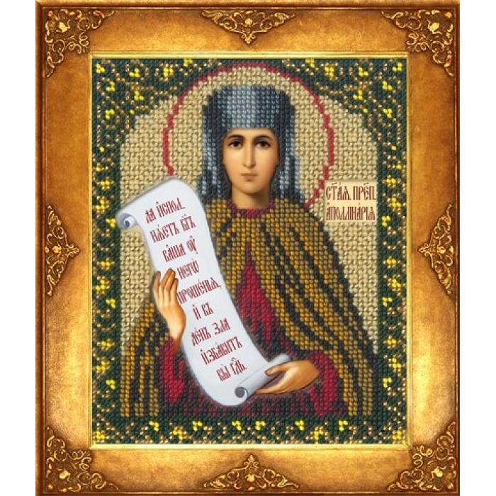Набор для вышивания бисером РУССКАЯ ИСКУСНИЦА арт.234 БИ Святая Аполлинария (Полина) 12,5х16,3 см