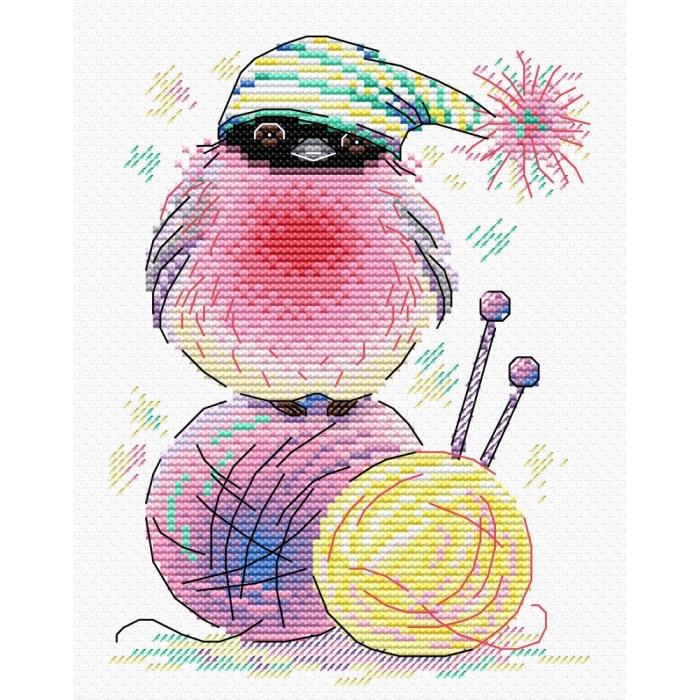 Набор для вышивания ЖАР-ПТИЦА арт.М-282 Пернатый клубок 18х13 см