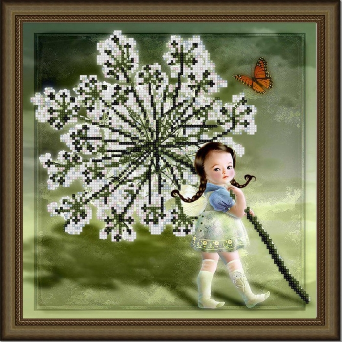 Рисунок на ткани (Бисер) КОНЁК арт. 9819 Малышка 25х25 см