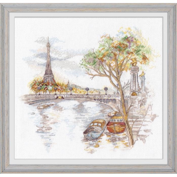 Набор для вышивания ОВЕН арт. 1044 Осень в Париже 27х25 см