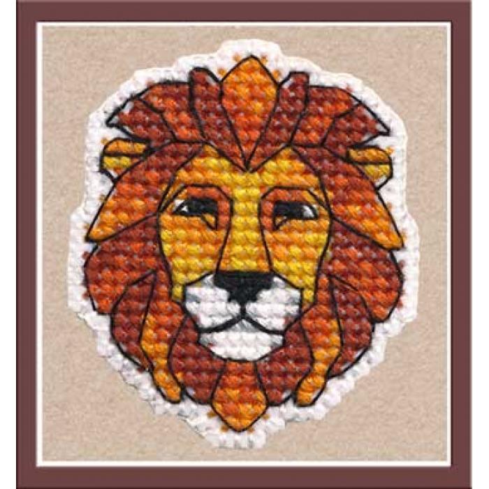 Набор для вышивания ОВЕН арт. 1170 Значок-лев 4,5х5,2 см
