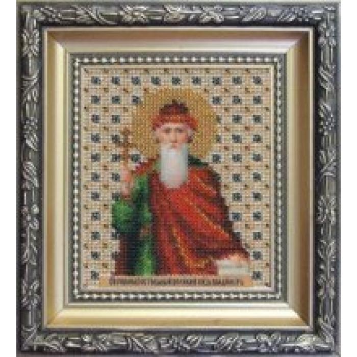 Набор для вышивания бисером ЧАРИВНА МИТЬ арт.Б-1036 Икона святого равноапостального князя Владимира 9х11 см