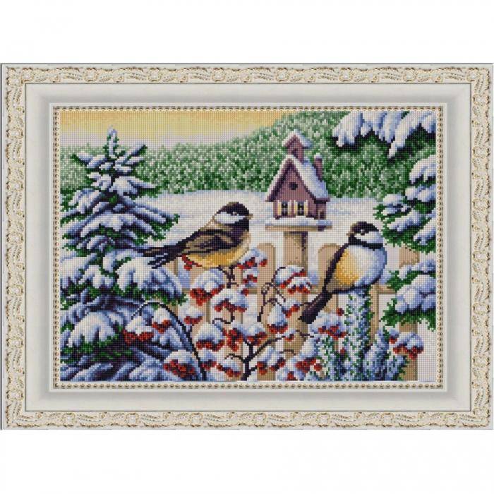 Рисунок на ткани (Бисер) КОНЁК арт. 9852 Кормушка 29х39 см