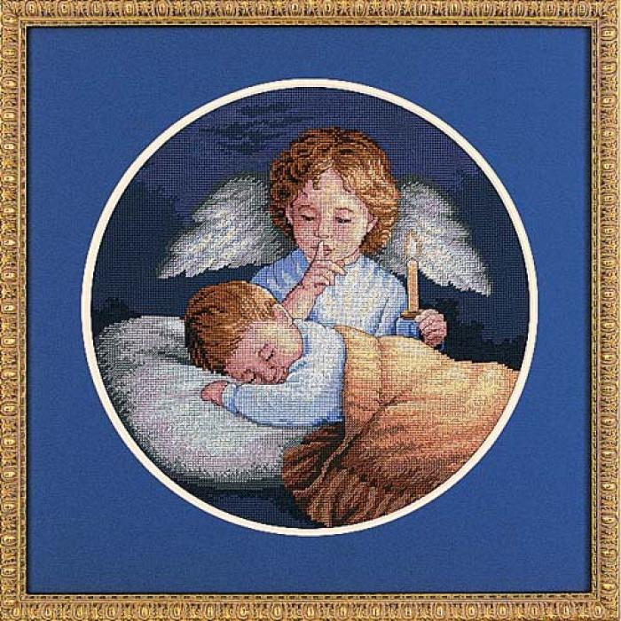 Набор для вышивания DIMENSIONS арт.DMS-03873 Ангел-Хранитель ? 25 см