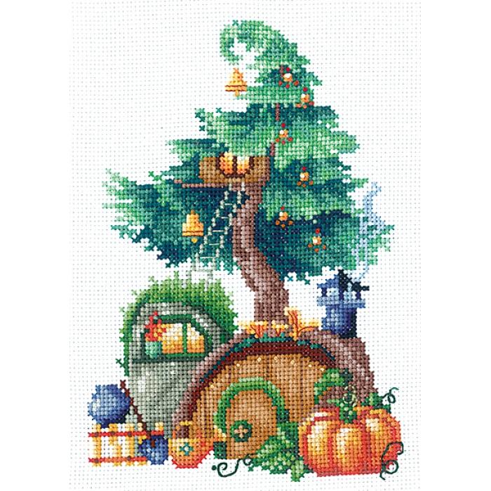 Набор для вышивания СДЕЛАЙ СВОИМИ РУКАМИ арт.Д-22 Дома на деревьях. Щедрый 11,5х17 см