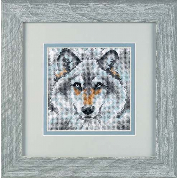 Набор для вышивания DIMENSIONS арт.DMS-07211 Зов волка 13х13 см