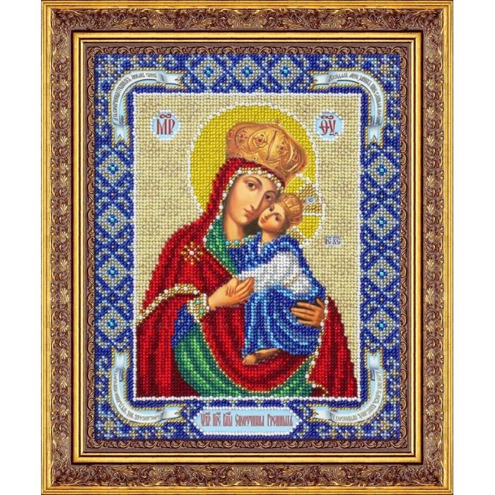 Набор для вышивания бисером ПАУТИНКА арт.Б-1063 Пр.Богородица Споручница грешных 20х25 см