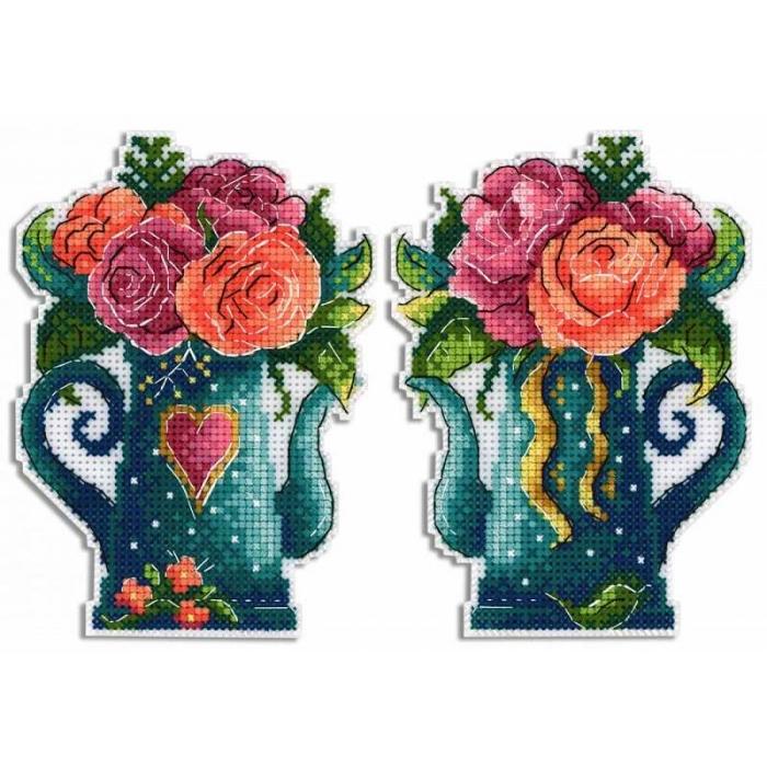 Набор для вышивания ЖАР-ПТИЦА арт.Р-575 Цветы любви 9х13 см