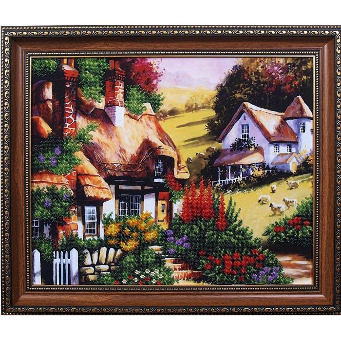 Набор для вышивания бисером МАГИЯ КАНВЫ арт.Б081 Сказочный пейзаж 2 42х33 см