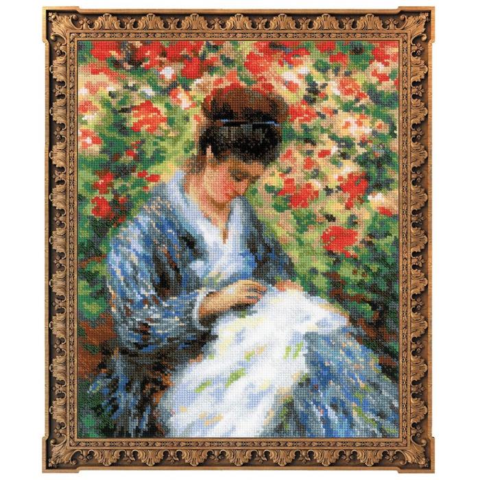 Набор для вышивания РИОЛИС арт.100/051 Мадам Моне за вышивкой 24х30 см